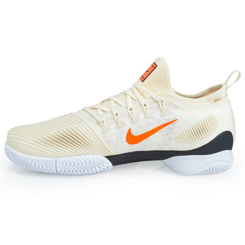 Nike Performance AIR ZOOM ULTRA - Outdoor tennis shoes - white/blackened blue/light cream/orange peel