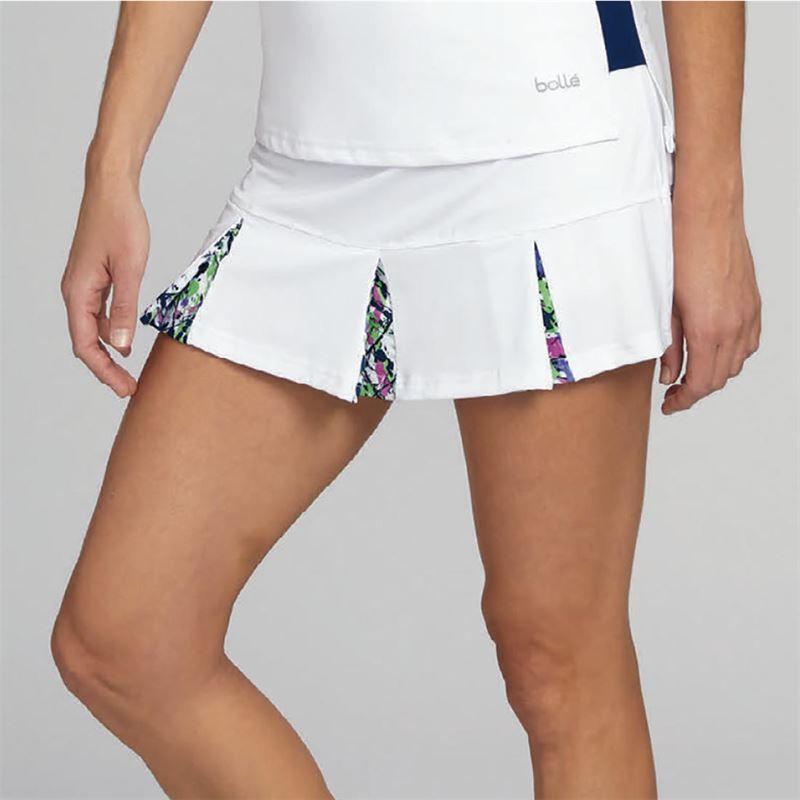 Boll/é Womens Ripple Effect Print Tennis Skirt with Built in Shorts