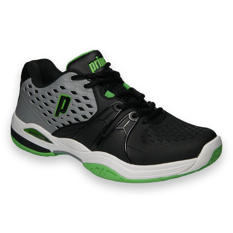 Prince Warrior Men S Tennis Shoe Grey Black Green