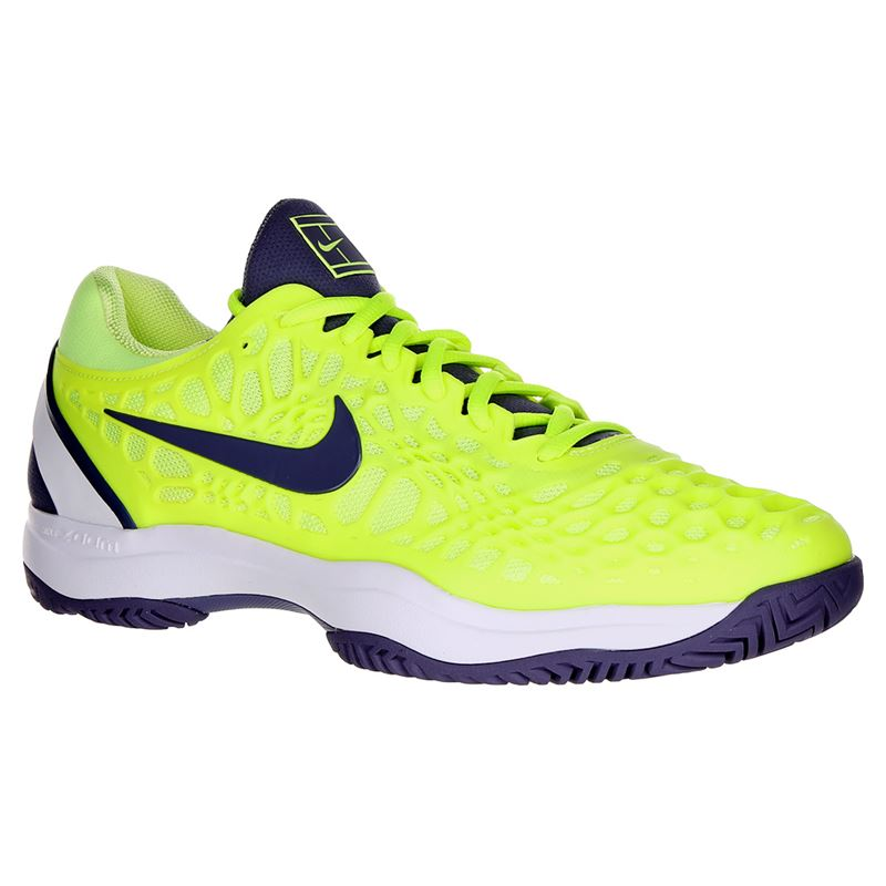 06806c58 Nike Zoom Cage 3 Mens Tennis Shoe - Volt Glow/Light Carbon/White. Zoom