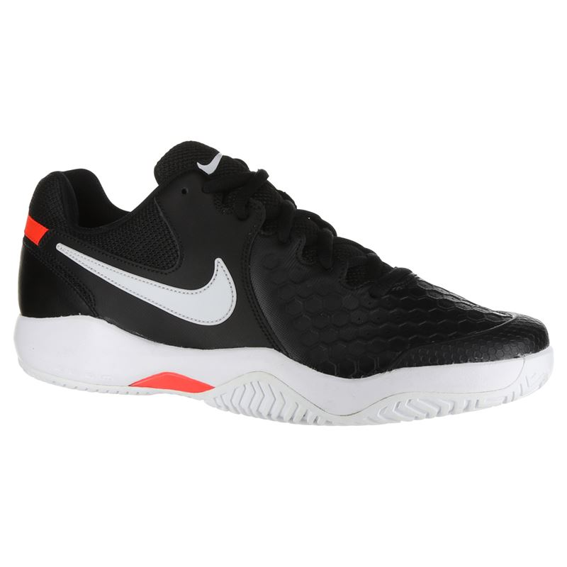 aacc081ef505 Nike Air Zoom Resistance Mens Tennis Shoe - Black White Bright Crimson. Zoom