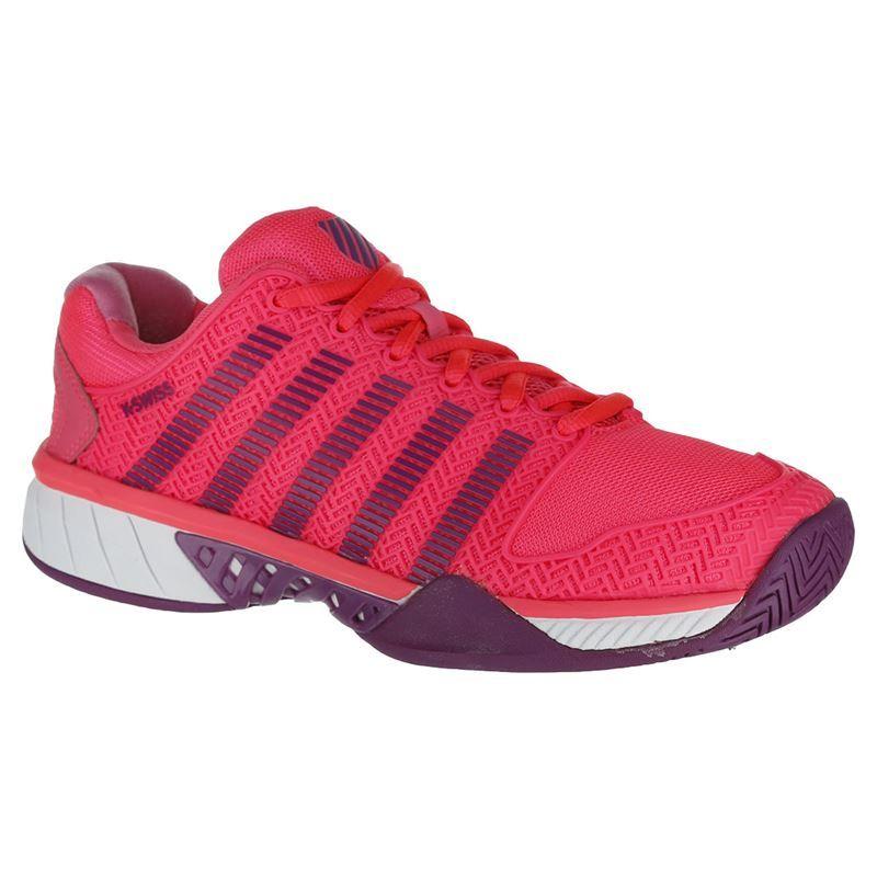 official photos fa9e2 21d12 K Swiss Hypercourt Express Womens Tennis Shoe - Neon Pink Deep Orchid. Zoom