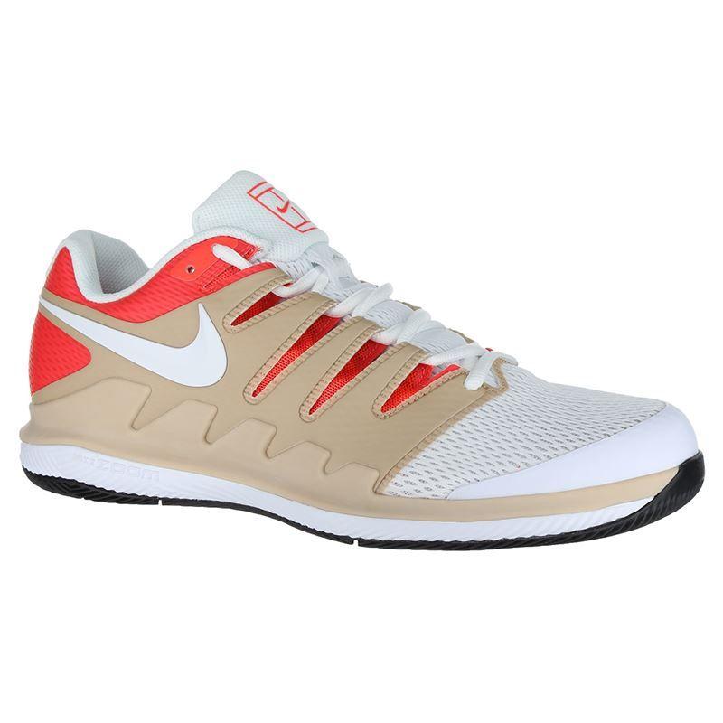 Nike Air Zoom Vapor X Mens Tennis Shoe - Bio Beige White Crimson  831d2a7876db1