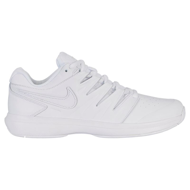 Nike Air Zoom Prestige Leather Mens Tennis Shoe - White Black. Zoom 1147db6fb