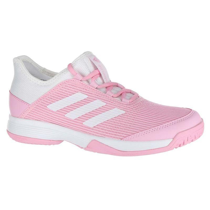 Adidas Adizero Club Girls' Tennis Shoes PinkWhite