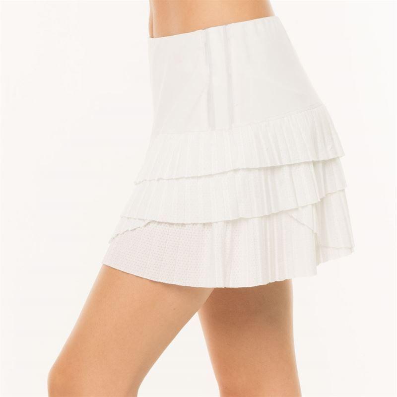 Lucky In Love Women`s Hi-Pleated Scallop Tennis Skort