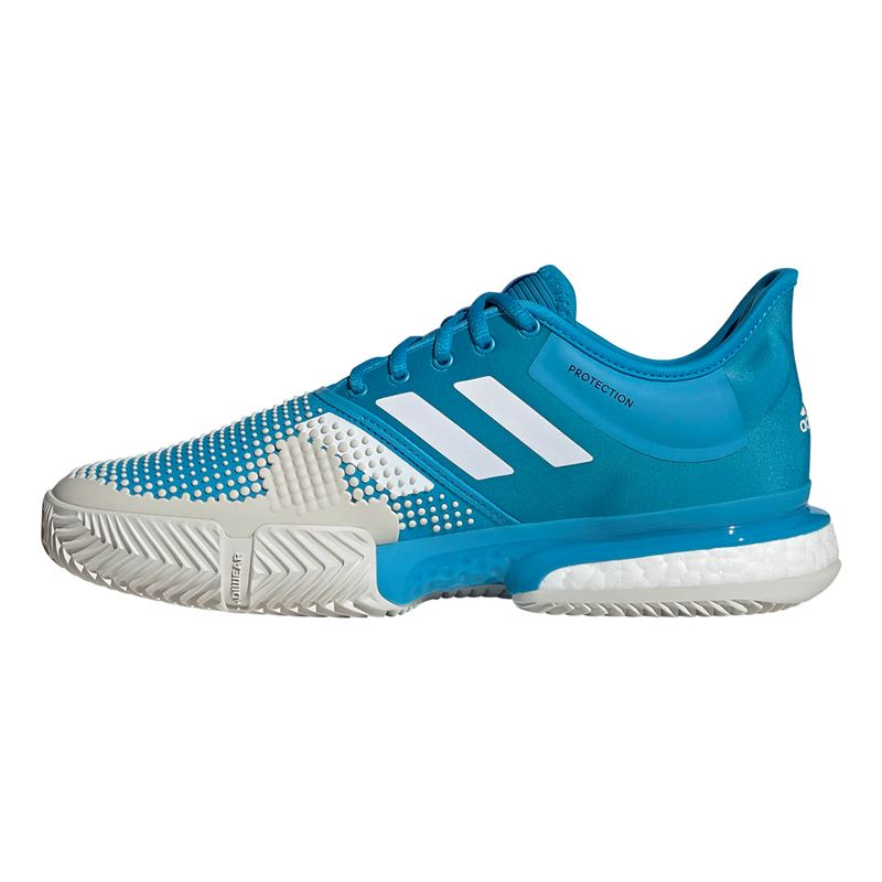 new style d121f b299f ... Shock Cyan White. Zoom · adidas Sole Court Boost Clay Mens Tennis Shoe  adidas Sole Court Boost Clay Mens Tennis Shoe ...
