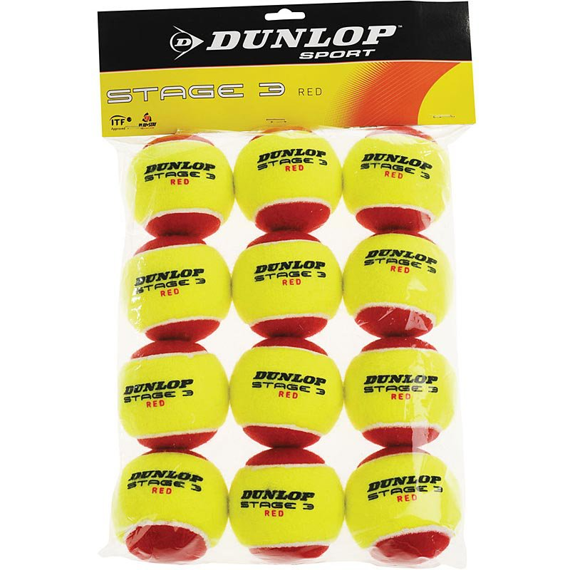 Dunlop Stage 3 Red Tennis Balls 12 Pack Dunlop Tennis