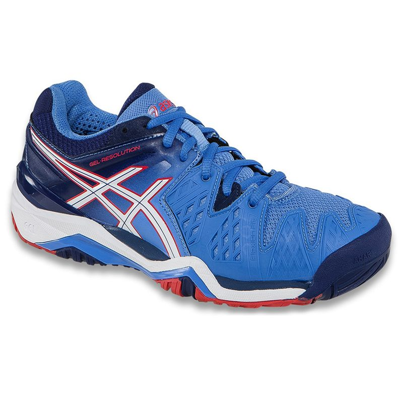 K-SWISS Women`s Bigshot II Tennis Shoes Blue and Red