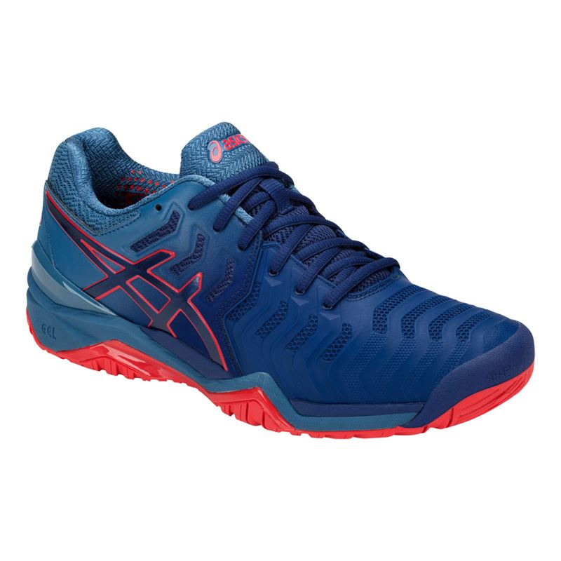 6b9b00703ce4 Asics Gel Resolution 7 Mens Tennis Shoe - Blue Print. Zoom