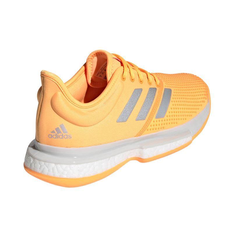 adidas Sole Court Boost All Court Shoe Men Grey, Orange