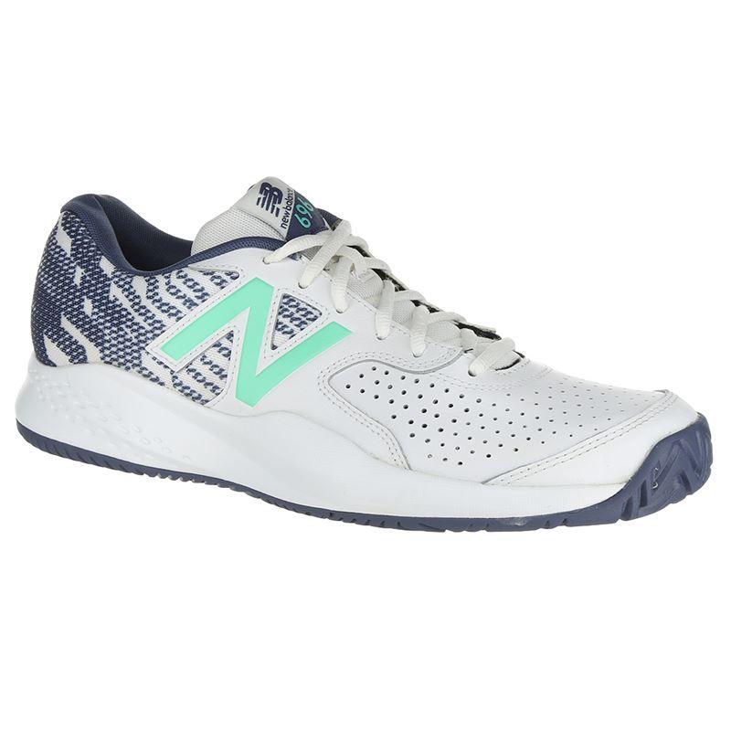 d62b3ffbf3a31 New Balance MCH696J3 (D) Mens Tennis Shoe - White/Emerald. Zoom