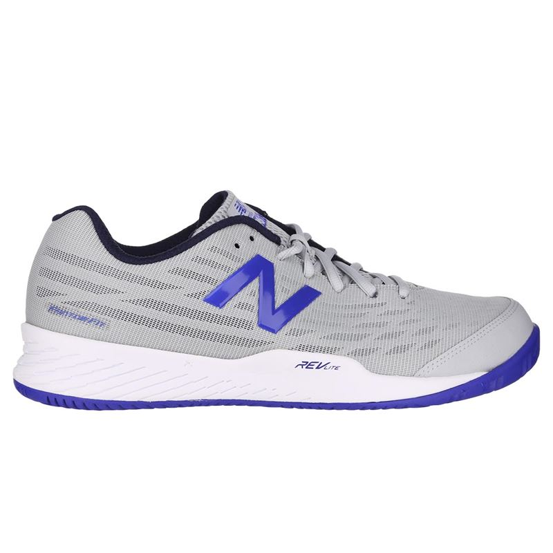 8c236d34bc879 New Balance MC 896 (D) Mens Tennis Shoe - Light Aluminum/UV Blue. Zoom