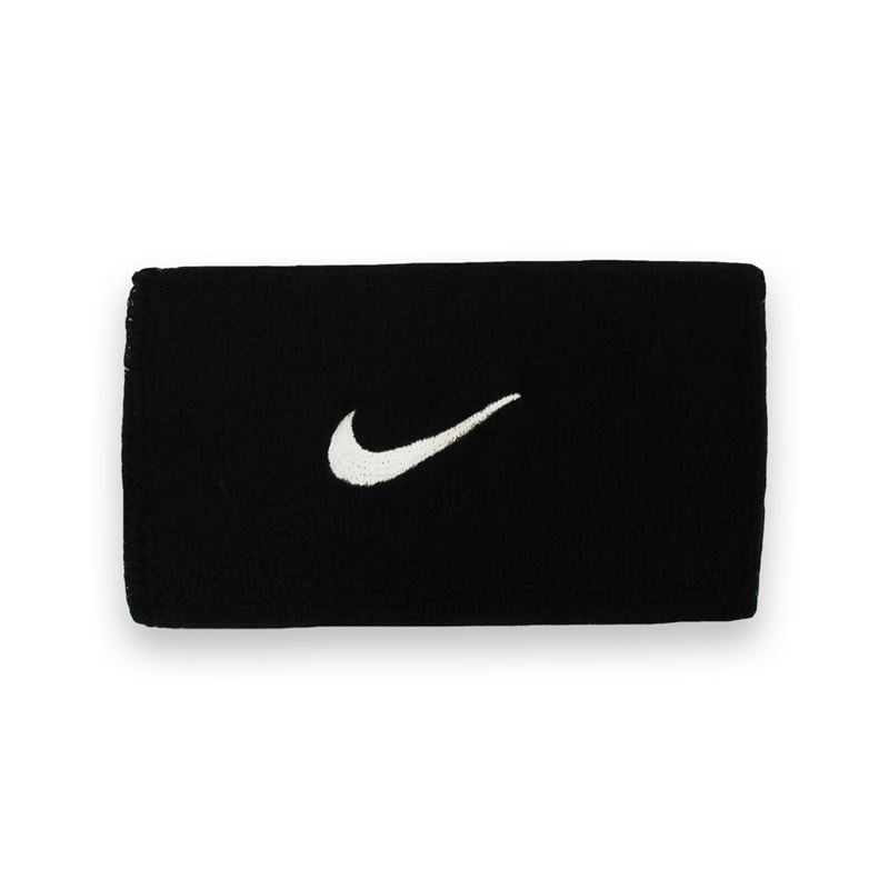 Nike Swoosh Doublewide Wristbands Black Unisex