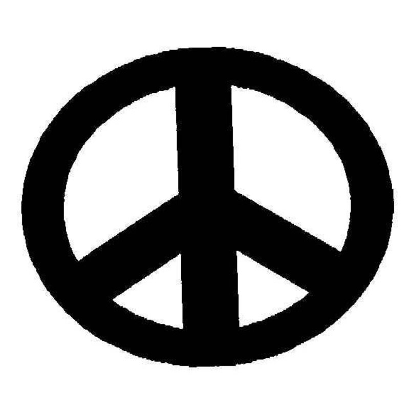 Tourna Peace Symbol Stencil Tennis Accessories