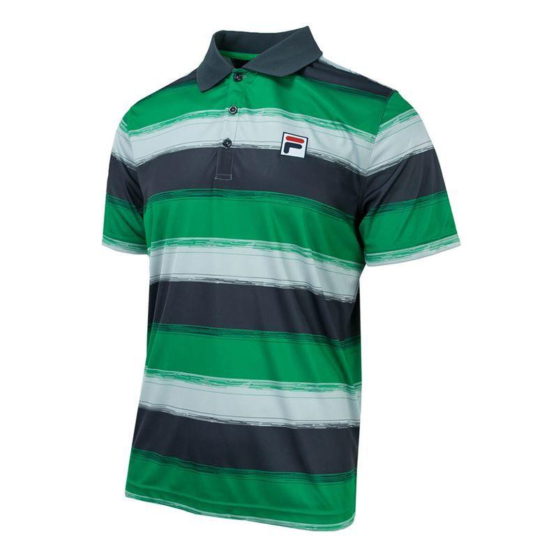 6bdbaaef8f Fila Legends Striped Polo, TM183W35 313 | Men's Tennis Apparel