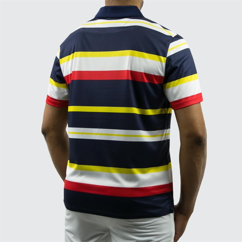 626fb1b1e3e Fila Heritage Striped Polo, TM191941 412 | Men's Tennis Apparel