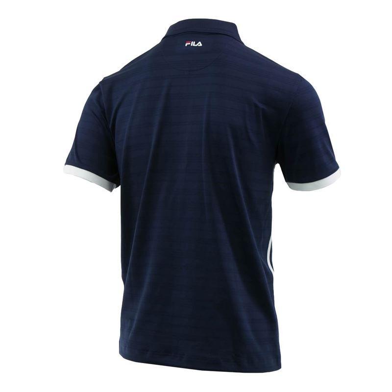 f54b5b18 Fila Heritage Striped Polo, TM911735 412 | Men's Tennis Apparel