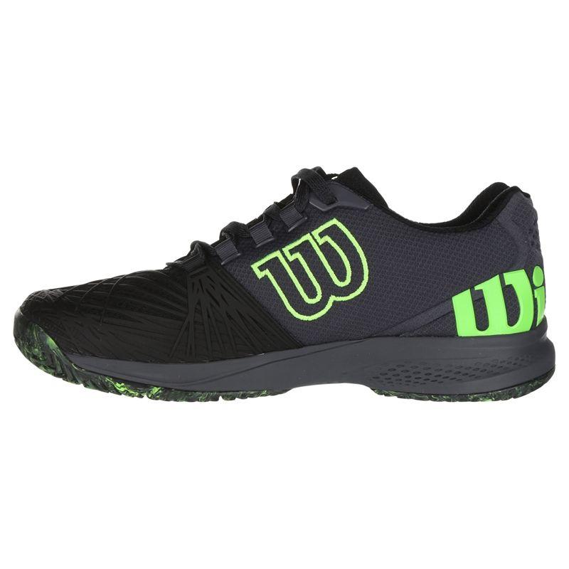 Wilson Kaos 2.0 Mens Tennis Shoe, Black/Green, WRS324810