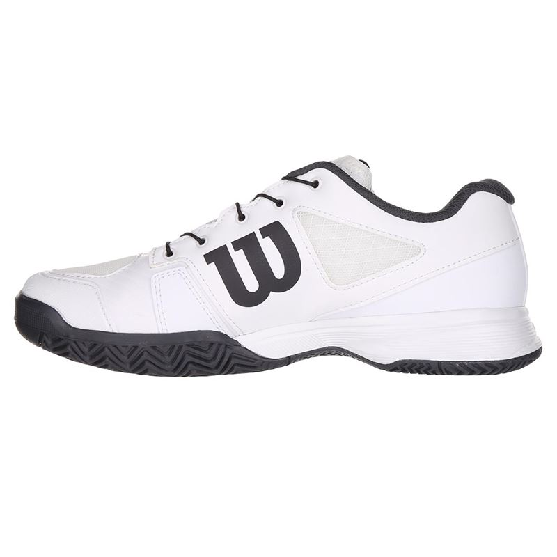 White//White//Ebony Wilson RUSH PRO JR QL Tennis Shoes 4