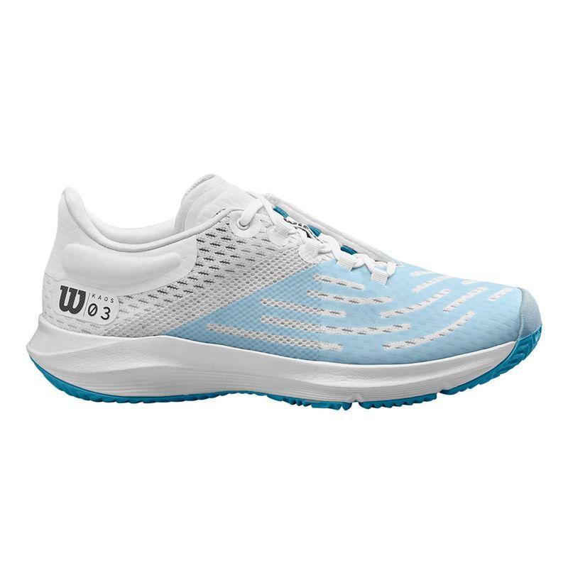 WILSON KAOS 2.0 SFT Tennis Shoes Women White//Blueberry.//Peacock Blue 9
