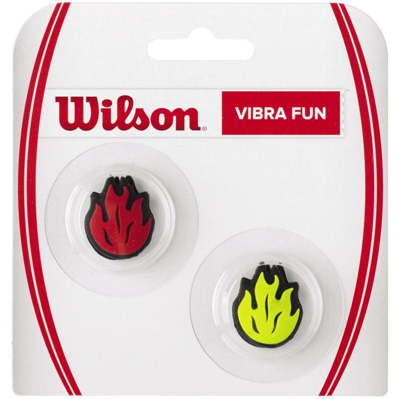 WILSON Vibra Fun Red//Yellow Flames Tennis Dampeners