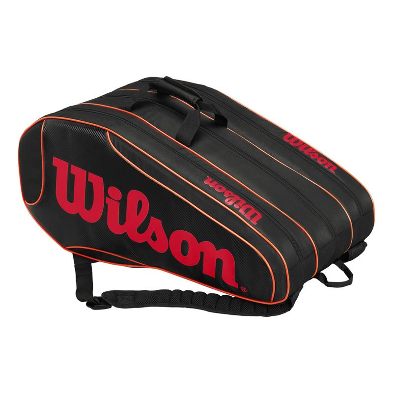 wilson burn team 12 pack tennis bag wilson tennis
