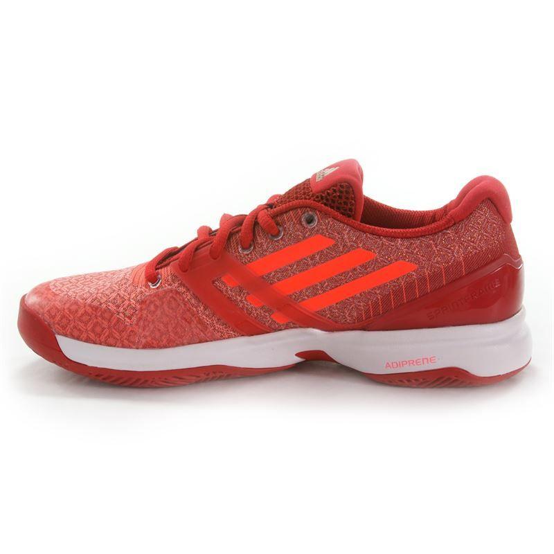 rubber duck - women's shiny pu tennis shoe (red/poppy red) - 80's Purple