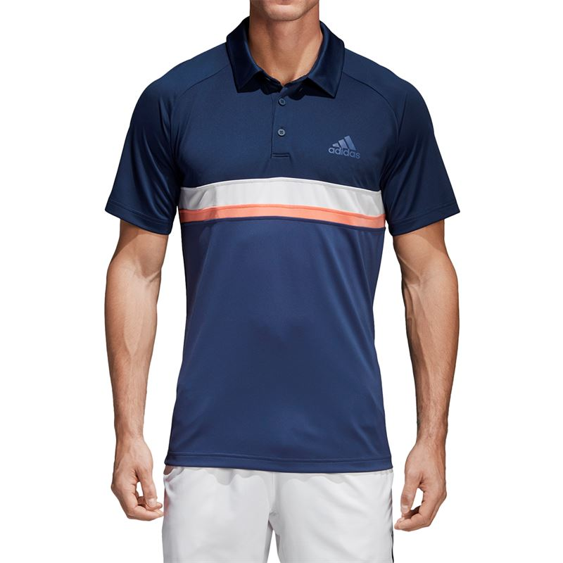 adidas Club Color Block Polo adidas Club Color Block Polo ...