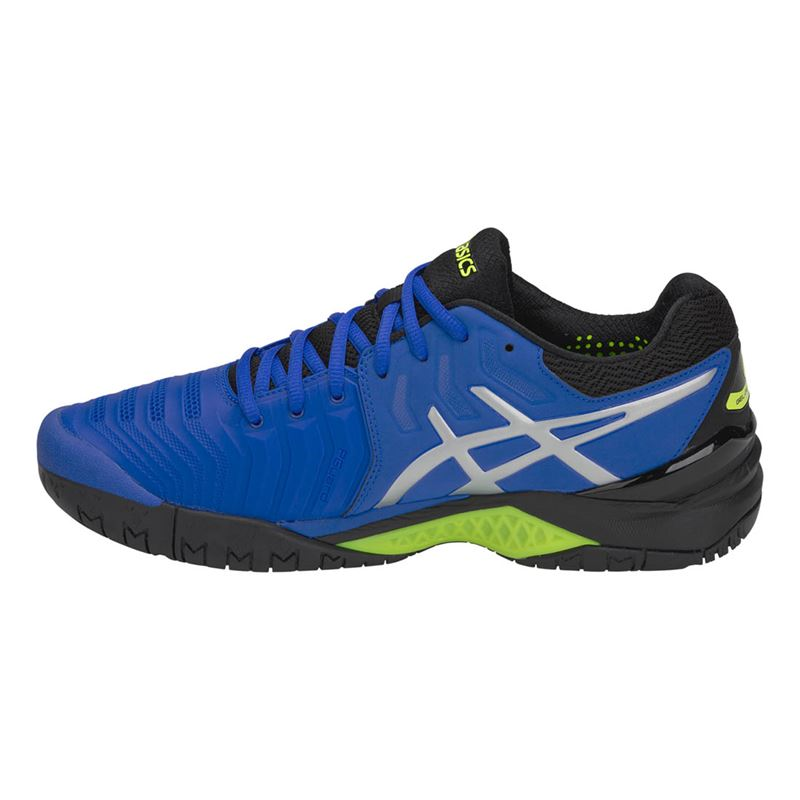 48e6ad1616b8 Asics Gel Resolution 7 Blue/Silver Mens Tennis Shoe | Midwest Sports