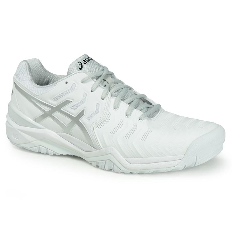83e3df91d57f Asics Gel Resolution 7 Mens Tennis Shoe - White Silver. Zoom