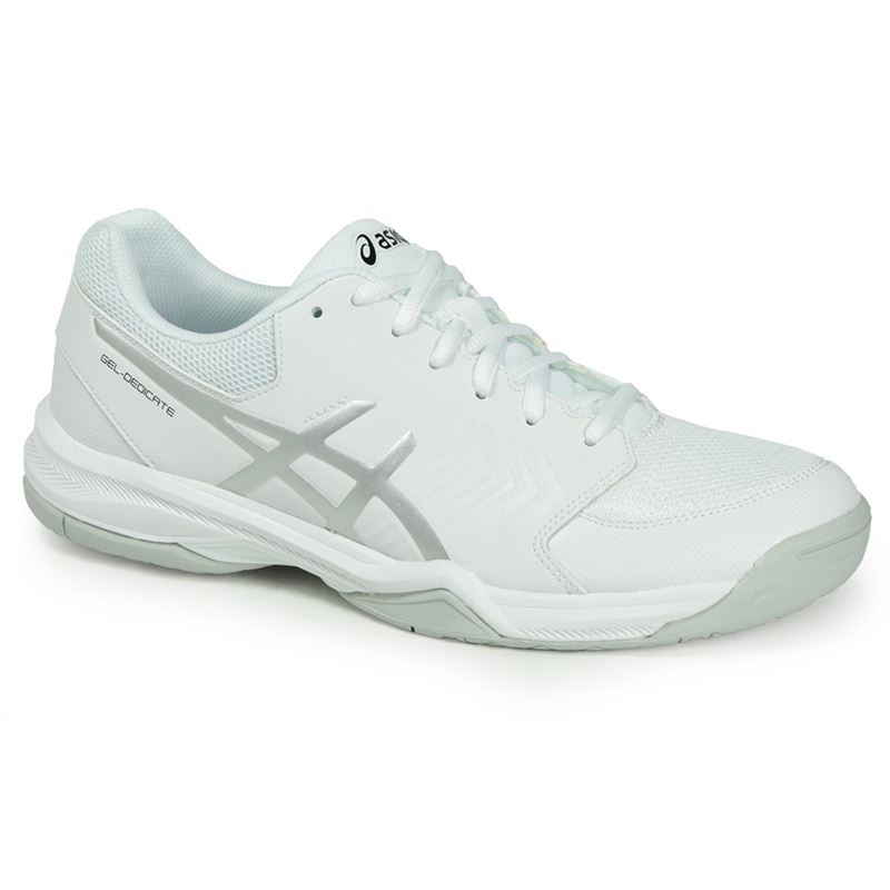 27fbe0e231 Asics Gel Dedicate 5 Mens Tennis Shoe - White Silver