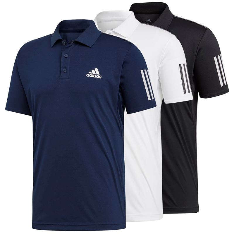 adidas 2 stripe polo