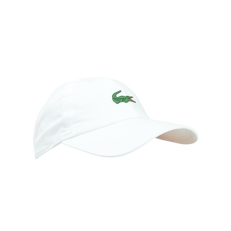5367a13b0 Lacoste Sport Polyester Hat, White, RK2464 001 | Tennis Hats