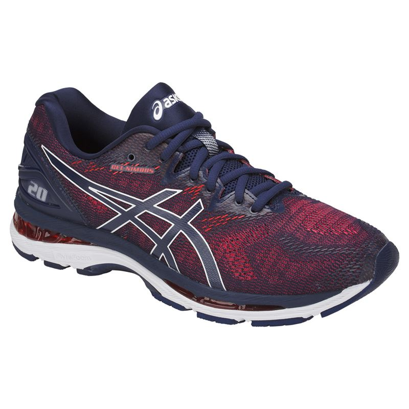 Asics Gel Nimbus 20 Mens Running Shoe - Indigo Blue Firey Red 77ad145cd5208