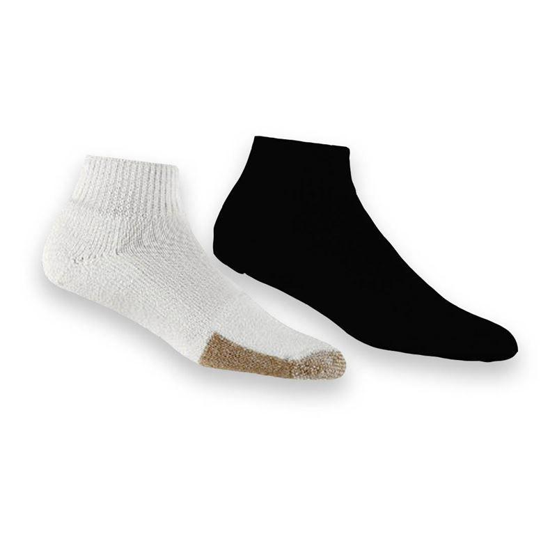 Thorlo Tennis Roll Top Socks Court Sports Mens Womens Black White