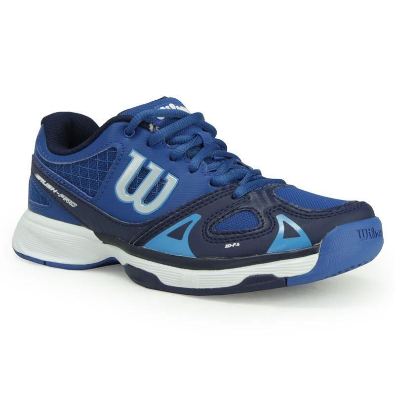 wilson pro junior tennis shoe water navy wrs320730
