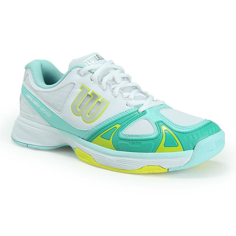 wilson evo womens tennis shoe white aruba blue