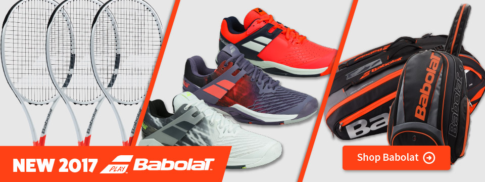 New 2017 Babolat Tennis Racquets, Shoes, and Bags