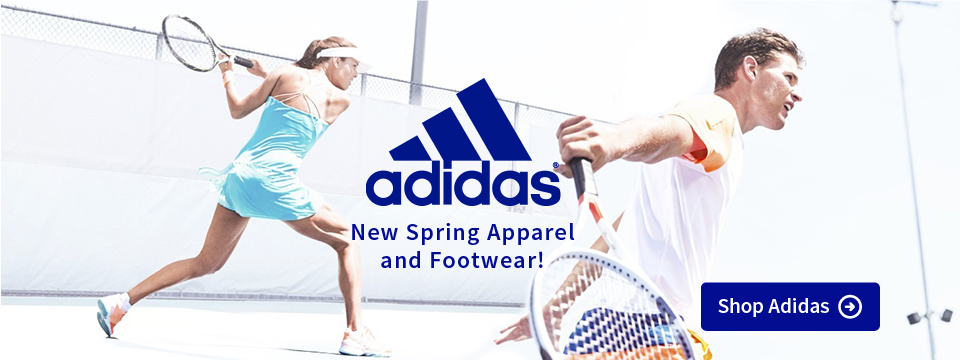 New Adidas Spring Tennis Apparel and Footwear