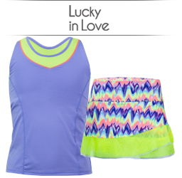 Girls Lucky in Love Tennis Apparel