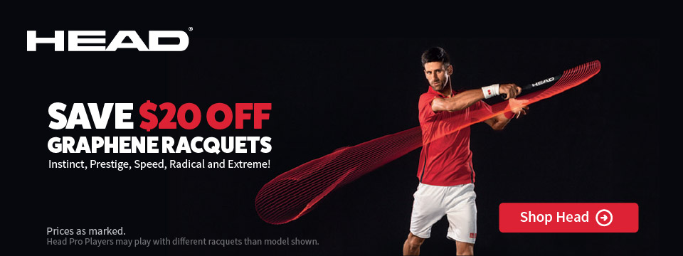 $20 Off Select Head Tennis Racuqets