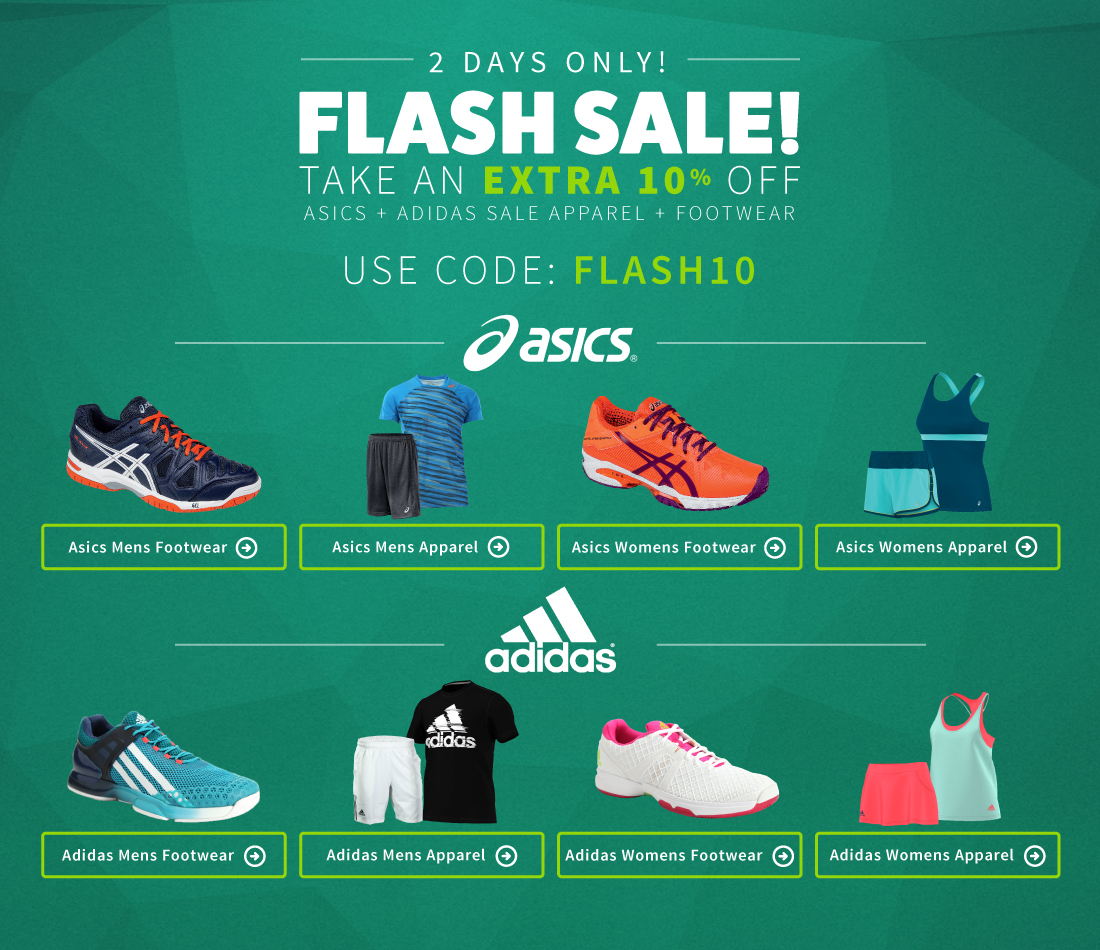 Asics and Adidas Flash Sale