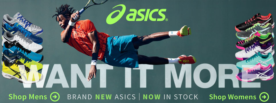 New Asics Resolution and Solution Speed Tennis Shoes