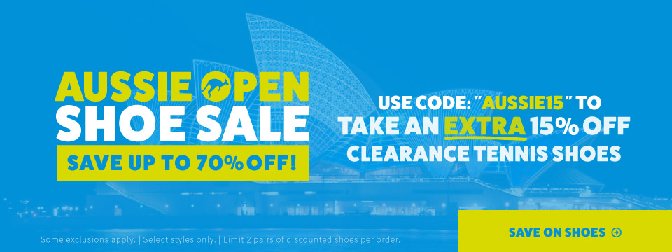 Aussie Open Extra 15% Off Footwear Sale