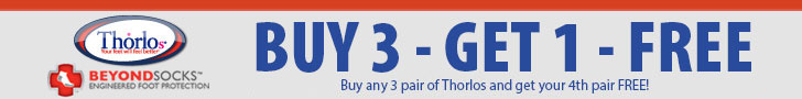 Buy 3, Get 1 Free on Thorlo tennis socks through June 15, 2013!