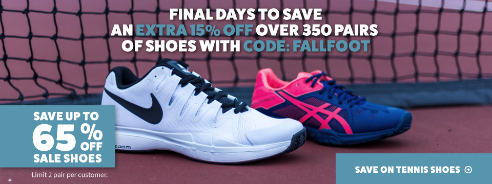Save up to 65% Off Sale Tennis Shoes!