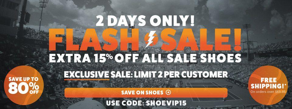 Extra 15% Off Tennis Shoe Sale