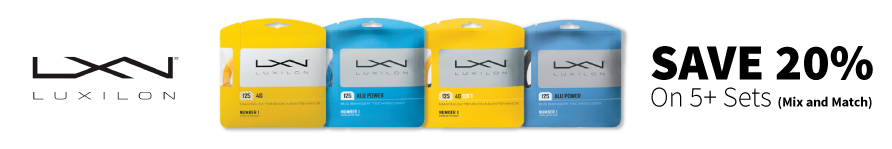 Luxilon String Deals Save 20% on 5