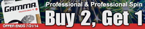 Buy 2, Get 1 FREE on Gamma Live Wire Professional  through July 31,2014!